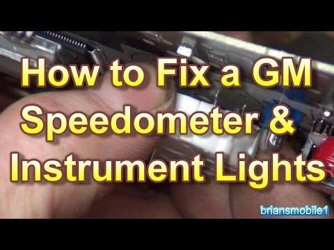 How to Fix a GM Gauges Speedometer & Instrument Lighting