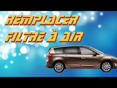 TUTO changer filtre a air Renault Scenic 3 (how to replace air filter)