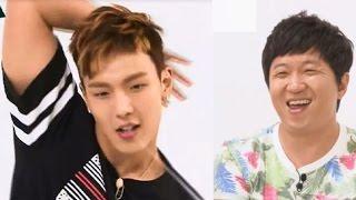 getlinkyoutube.com-Monsta X : Weekly Idol [Eng SubHD] Girl group dance & Funny dance cut 몬스타엑스