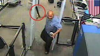getlinkyoutube.com-미국 국제공항에서 난데없이 칼을 뽑더니 난도질하기 시작하는 남성, 결국 총맞고 사망