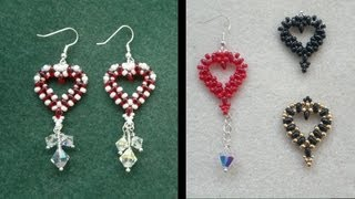 getlinkyoutube.com-Beading4perfectionists : Easy Valentine Heart with Superduo beads video beading tutorial