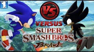 getlinkyoutube.com-Super Smash Bros. Brawl - Sonic vs Dark Sonic (Dolphin Emulator)