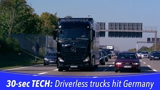 getlinkyoutube.com-30-sec TECH: Autonomous trucks hit the autobahn