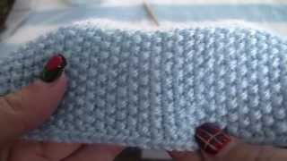 getlinkyoutube.com-Seed Stitch Tutorial, Striped Baby Blanket Pattern