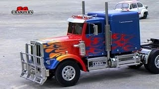 getlinkyoutube.com-Tamiya 1/14 Semi trucks Scania R620 MAN TGX 6x4 King Hauler Optimus Prime Sound Unit Part 1