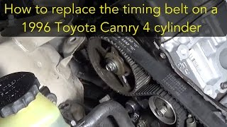 getlinkyoutube.com-How to replace the timing belt on a 96 Toyota Camry 4 cylinder 5S-FE