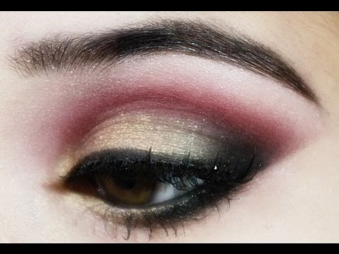 Traditional Indian Pakistani Bridal Makeup Tutorial : Pink, Gold and Black