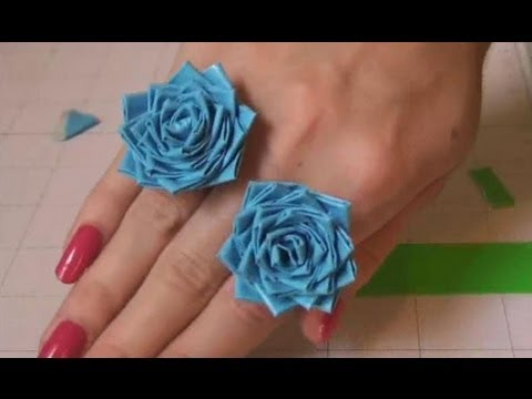 Duct Tape Rose Ring Tutorial. How to make a Flower ring.