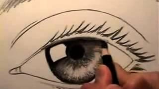 getlinkyoutube.com-تعليم رسم العين سهل بالقلم الرصاص