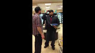 Crazy guy in 7-11 gets OWNED!