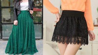 getlinkyoutube.com-Faldas Tejidas a Crochet Mujer - Ideas