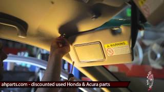 getlinkyoutube.com-SUN VISORS Replacement How to replace install change tutorial video installation Honda Civic