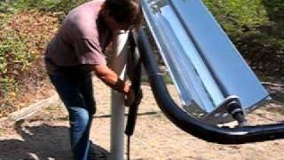 getlinkyoutube.com-Parabolic Trough Solar Collector water heater 3
