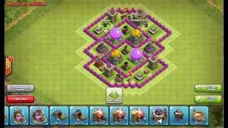 getlinkyoutube.com-DISEÑO DE ALDEA FARMING PARA AYUNTAMIENTO 6 | Clash Of Clans