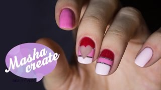 getlinkyoutube.com-Маникюр с лентой для ногтей. Дизайн ногтей на День Валентина