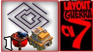 getlinkyoutube.com-Clash of Clans - Melhor Layout Guerra CV7 COM DISPERSOR AÉREO - The Best Layout WAR TH7