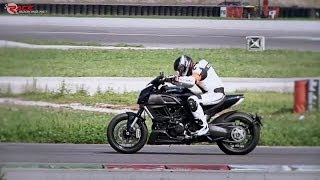 Ducati Diavel on track + onboard lap