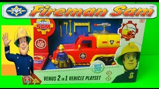 getlinkyoutube.com-FIREMAN SAM VENUS FIRE ENGINE WATER TRUCK TOY WITH WORKING PUMP AND SOUNDS LATEST UNBOXING