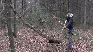 getlinkyoutube.com-Building a Survivalbow and Arrow