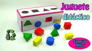 getlinkyoutube.com-174. Manualidades: Juguete didáctico con figuras geométricas (Reciclaje de cartón)Ecobrisa