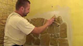 getlinkyoutube.com-Jak układać kamienie dekoracyjne gipsowe firmy Petraart naturalny