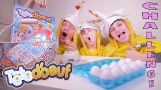 EGG CHALLENGE • Ca va éclabousser ! Des oeufs plein la tête avec Tête d'Oeuf - Studio Bubble Tea