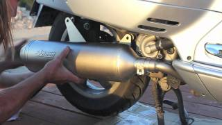 getlinkyoutube.com-Vespa GTS GTV SUPER 250 300 Leo Vince Exhaust Installation PART 2