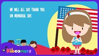 getlinkyoutube.com-Memorial Day Poppy Song Lyrics for Kids | Children's Music