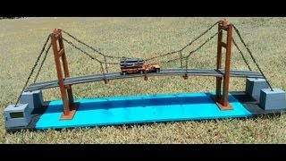 getlinkyoutube.com-How to make suspension bridge model