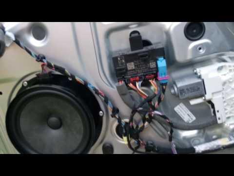 Обрыв проводов в жгуте передней двери Skoda Yeti
