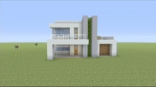 getlinkyoutube.com-How to Build a Small Modern House in Minecraft