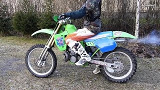 getlinkyoutube.com-KX500 Starting, Soundcheck & Riding