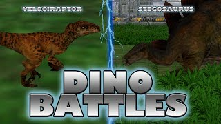 getlinkyoutube.com-DINO BATTLES - Velociraptor Vs. Stegosaurus