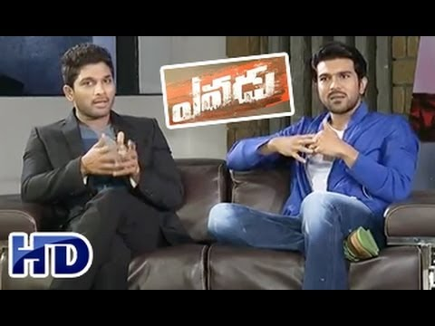 Yevadu || Chit Chat with Ram Charan and Allu Arjun || Part 01