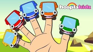 getlinkyoutube.com-Learn Colors with Wheels on the Bus Finger Family Song | Nursery Rhymes Collection by HooplaKidz