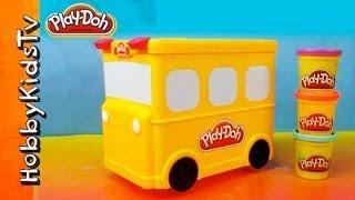 getlinkyoutube.com-PLAY DOH Wheels on the Bus Storage Box Toy Review for Kids HobbyKidsTV