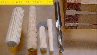 """getlinkyoutube.com-Столярные Хитрости. Соединение На """"Деревянный Гвоздь"""". Mini X Miller Dowel Joinery Kit"""