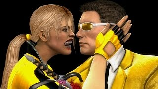 getlinkyoutube.com-Mortal Kombat Komplete Mods Sonya & Johnny Cage Gold Costumes