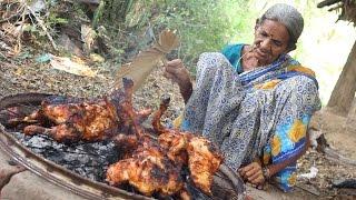 getlinkyoutube.com-Roasted Chicken in Village Style || My Grandma's Chicken Recipe