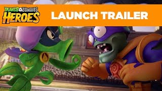 getlinkyoutube.com-Plants vs. Zombies Heroes Launch Trailer