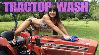 getlinkyoutube.com-Restore your tractor! Beautiful 48 Year Old Farm Girl. How to clean tractor, headlights to tires!