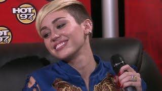 """getlinkyoutube.com-Miley Cyrus,""""Im more than a twerker.."""" & """"my Mom's weave is..."""""""
