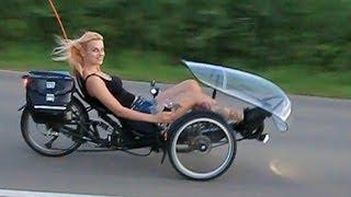 getlinkyoutube.com-HP Velotechnik Scorpion E-Trike mit Tretkurbelantrieb - Moni macht Probefahrt