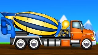 getlinkyoutube.com-concrete mixer | formation and uses | videos for kids | construction vehicles
