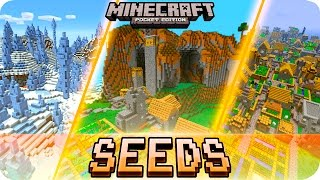 getlinkyoutube.com-Minecraft PE - TOP 5 SEEDS! Villages, Survival Islands & MORE - MCPE 1.0 / 0.17.0