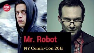 NYCC 2015: Christian Slater e Rami Malek de Mr. Robot