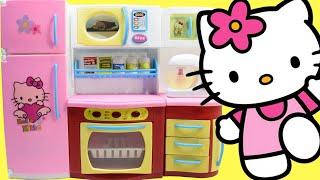getlinkyoutube.com-Hello Kitty Kitchen Playset - Toy Kitchen Hello Kitty Cooking Toys Playset For Kids by Haus Toys