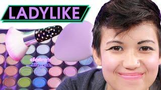 Women Try The Kids' Makeup Challenge • Ladylike