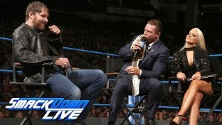 "getlinkyoutube.com-""Miz TV"" with special guest Dean Ambrose: SmackDown LIVE, Dec. 6, 2016"