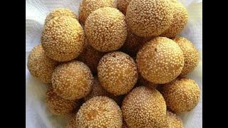 getlinkyoutube.com-how to make Sesame Balls Lao food  ເຂົ້າຫນົມໂອໂລ້